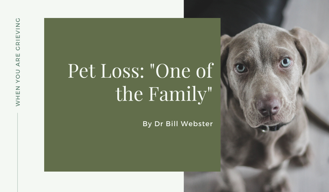 "Pet Loss: ""One of the Family"""